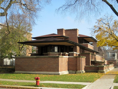 FLW's 1920 Frederick Robie House, the epitome of his Prairie style